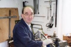 Sid Standard in the workshop