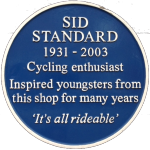 Sid Standard - blue plaque